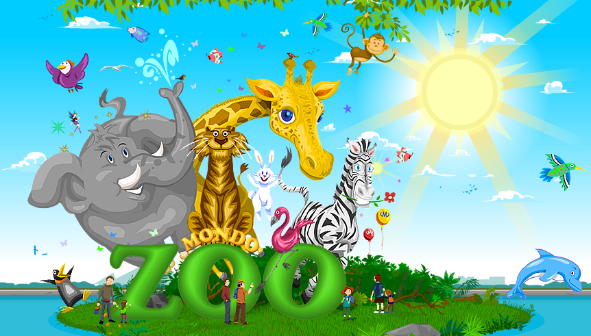 animals of the zoo